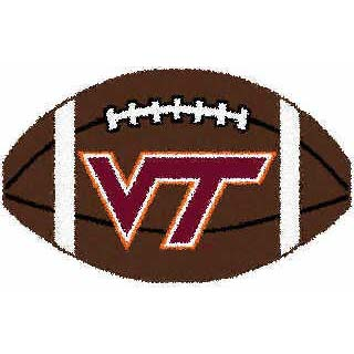 Logo Rugs Virginia Tech University Virginia Tech Football 3 x 6 VTFB2