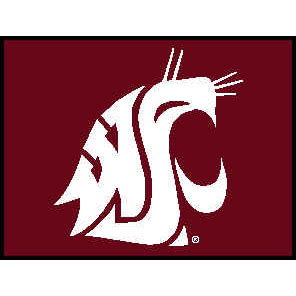 Logo Rugs Washington State University Washington State Entry Mat 2 x 2 WSEM1