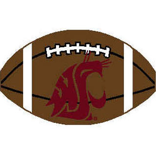 Logo Rugs Washington State University Washington State Football 2 x 2 WSFB