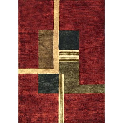 Loloi Rugs Crescent 8 x 11 Red Charcoal CR-03