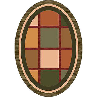Milliken Ababa 4 x 5 Oval Dark Olive 7414/293/64