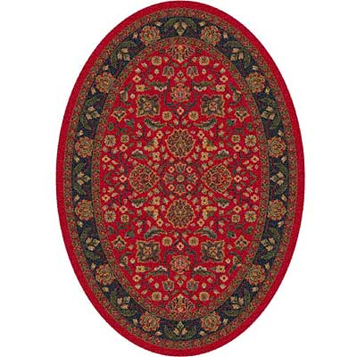 Milliken Abadan 4 x 5 Oval Currant Red 7417/293/00224