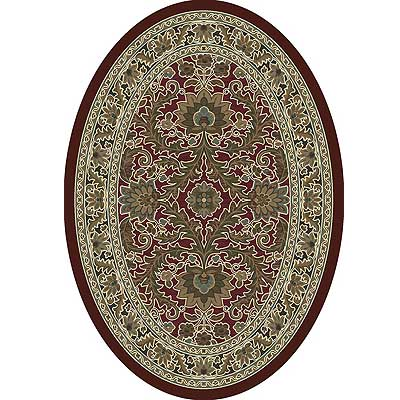 Milliken Akhisar 4 x 5 Oval Cranberry Antique 7029/293/10800