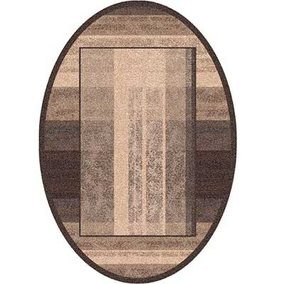 Milliken Aspire 4 x 5 Oval Dark Brown 7524/293/623