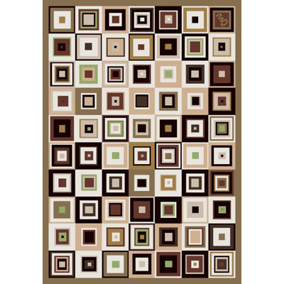 Milliken Contemporary Square 7476/293 4 x 5 Oval Brown Earth 342