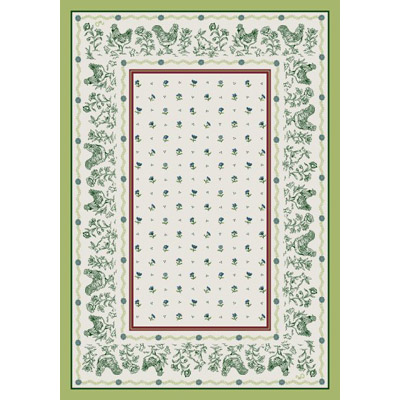 Milliken French Country 7477/295 8 x 11 Oval Avocado 949