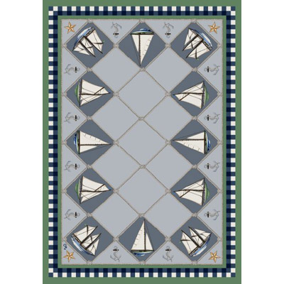 Milliken Nantucket Regatta 7483/294 5 x 8 Oval Fresh Green 388