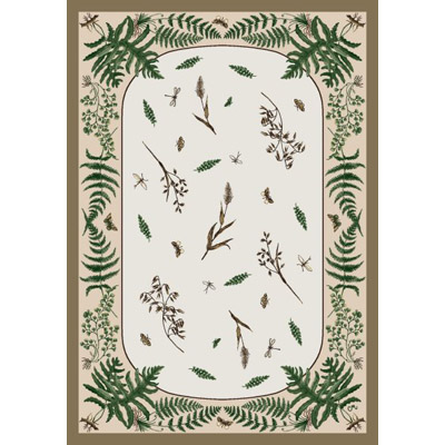 Milliken Woodland Fern 7484/298 8 Octagon Dull Gold 162