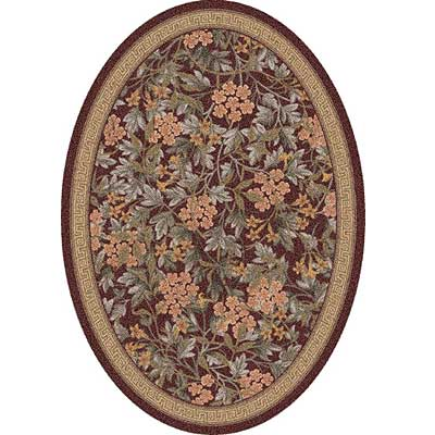 Milliken Delphi 4 x 5 Oval Damask Red 7412/293/188