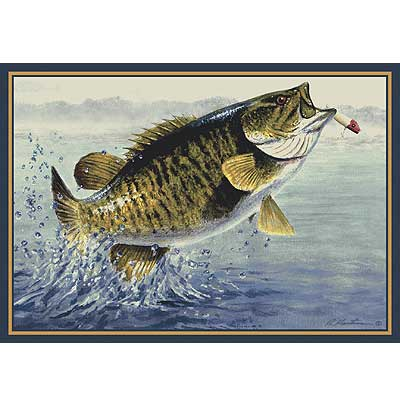 Milliken Hautman Collection 4 x 5 Small Mouth Bass 534714/200/2225