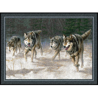 Milliken Hautman Collection 4 x 5 Wolves On The Move 534714/200/74697