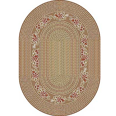 Milliken Heartland Braid 5 x 8 Oval Light Sandstone 4742/294/2300