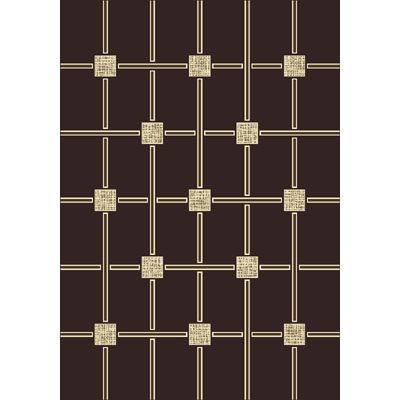 Milliken Geometrica 2 x 8 Runner Dark Chocolate Antique 4478/217/10110