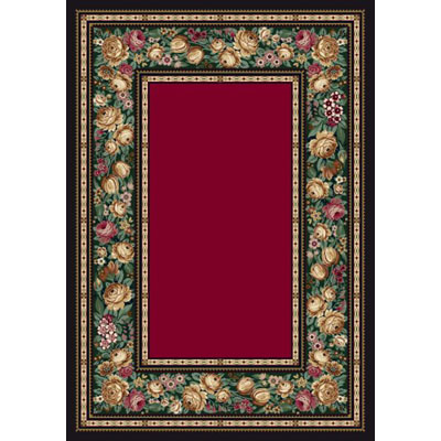 Milliken English Floral 3 X 4 Ruby 4500/234/8000
