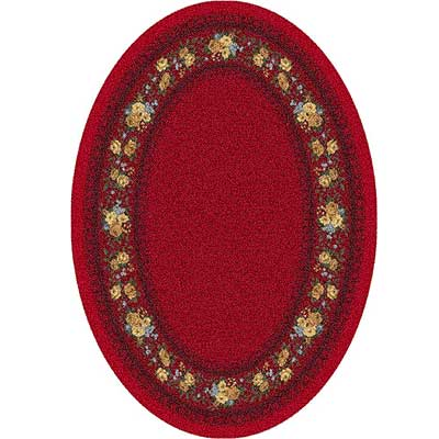 Milliken Kerri 4 x 5 Oval Currant Red 7410/293/224