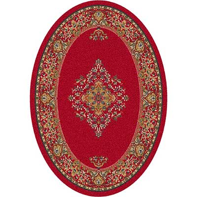 Milliken Merkez 4 x 5 Oval Currant Red 7418/293/00224