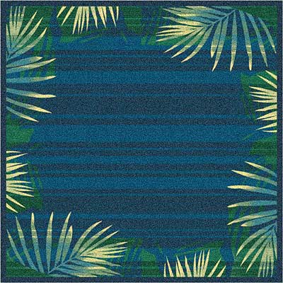 Milliken Palm 3 x 4 Blue Grey 7516/234/548