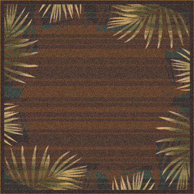 Milliken Palm 4 x 5 Brown Leather 7516/200/626