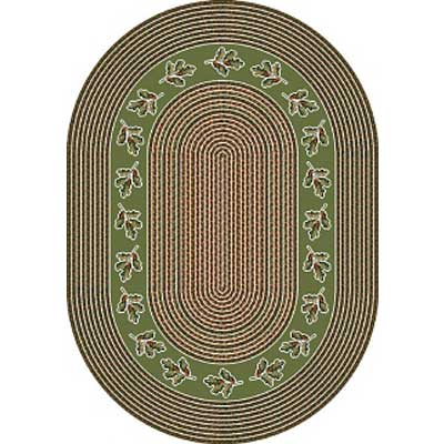 Milliken Oak Braid 4 x 5 Oval Celadon 4751/293/4600