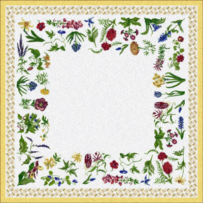 Milliken Antique Botanical 7470/217 2 x 8 Runner Cornsilk 993