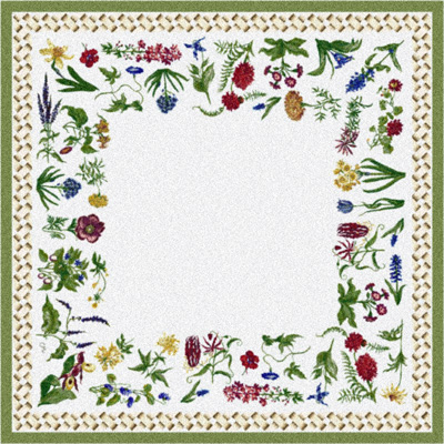 Milliken Antique Botanical 7470/202 8 x 11 Meadow Mist 373