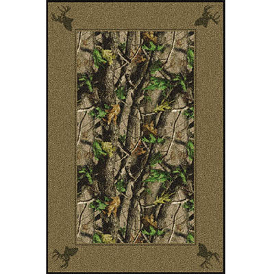 Milliken Realtree Collection 3 x 4 Hardwood Green Solid Border 534711/234/65242