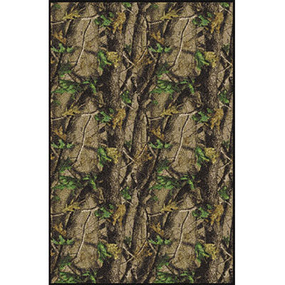 Milliken Realtree Collection 3 x 4 Hardwood Green Solid Camo 534711/234/65240