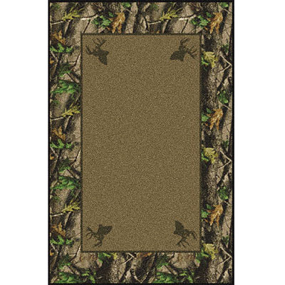 Milliken Realtree Collection 3 x 4 Hardwoods Green Solid Cente 534711/234/65241