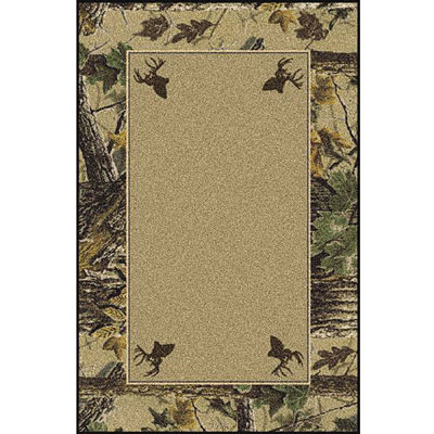 Milliken Realtree Collection 3 x 4 Xtra Brown Solid Center 534711/234/74046
