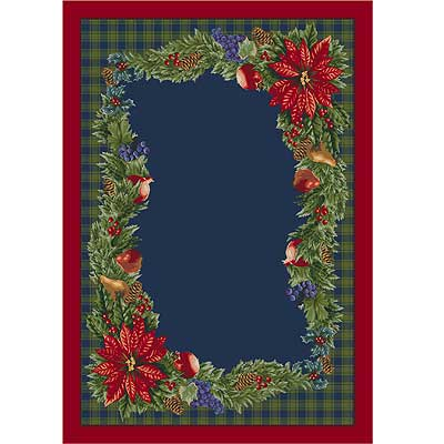 Milliken Seasonal - Winter 3 X 4 Bountiful - Crimson Red 4533/234/203