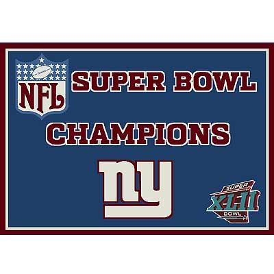 Milliken My Team NFL - Super Bowl XLII Champions 5 x 8 New York Giants Blue 553321/201/8061