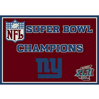 Milliken My Team NFL - Super Bowl XLII Champions 5 x 8 New York Giants Red 553321/201/9061