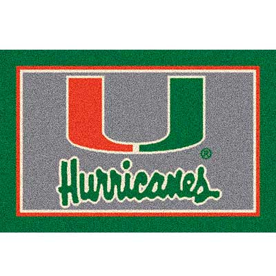 Milliken My Team College - University of Miami 5 x 8 U Miami 533284/74386/201