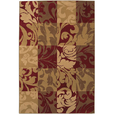 Mohawk Decorators Choice 5 x 8 Windowpane Crimson 58039-11306