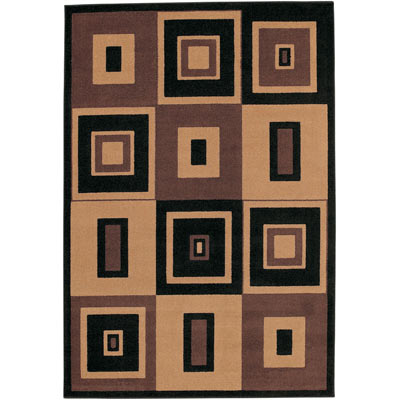Mohawk Metropolis 5 x 8 (Discontinued) Center Square Brown 58025-420