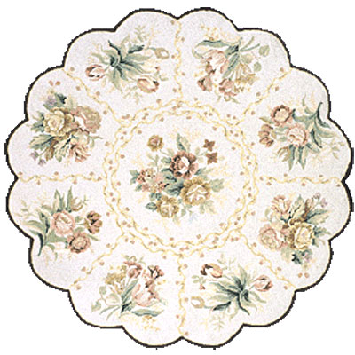 Momeni, Inc. Antique Empire 8 x 8 Scallop Ivory 99201