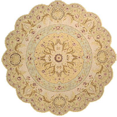 Momeni, Inc. Antique Empire 8 x 8 Scallop Taupe 99205
