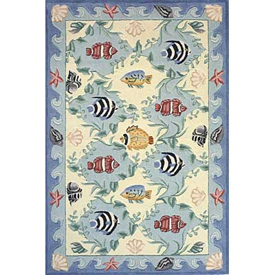 Momeni, Inc. Coastal 8 x 11 Blue CC-01