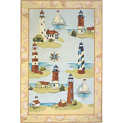 Momeni, Inc. Coastal 3 x 5 Coastal Assorted CC-02