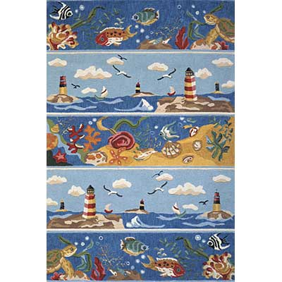 Momeni, Inc. Coastal 5 x 8 Blue CC-07