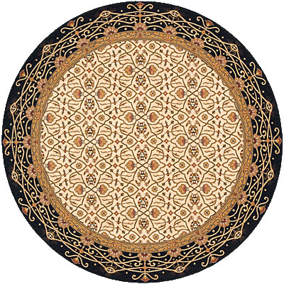 Momeni, Inc. Persian Garden 8 Round Charcoal PG-09