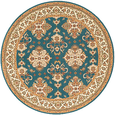 Momeni, Inc. Persian Garden 8 Round Teal Blue PG-12
