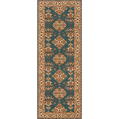 Momeni, Inc. Persian Garden 2 x 8 Runner Teal Blue PG-01
