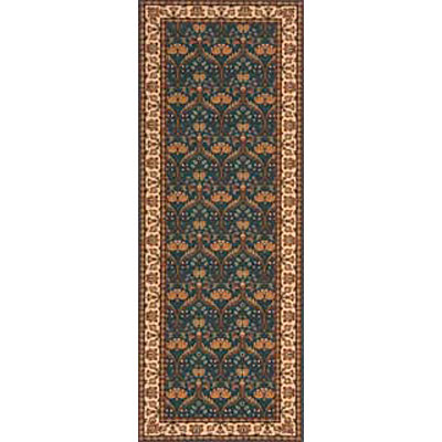 Momeni, Inc. Persian Garden 2 x 8 Runner Teal Blue PG-12