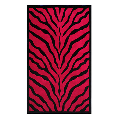 Nejad Rugs African Safari 8 x 11 Zebra Red/Black WK002 RDBK