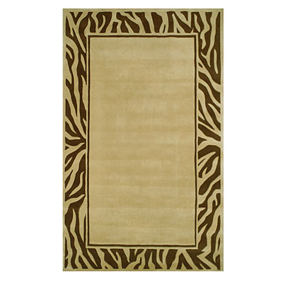Nejad Rugs African Safari 8 x 11 Zebra Border Beige/Brown WK010 BGBN