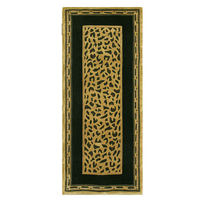 Nejad Rugs African Safari 3 x 8 Runner Cheetah Gold/Black WK004 GOBK