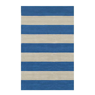 Nejad Rugs Boardwalk Stripes 5 x 8 Blue/Ivory AT064 BLIY