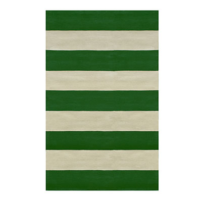 Nejad Rugs Boardwalk Stripes 5 x 8 Emerald/Ivory AT064 EMIY