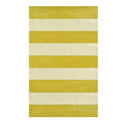Nejad Rugs Boardwalk Stripes 5 x 8 Yellow/Ivory AT064 YLIY